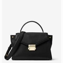 NWT Michael Kors Whitney Medium Leather Satchel Black - $167.02