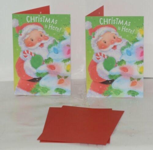 Hallmark XV 603-1 Santa Decorating Christmas Tree Card Package 2