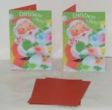 Hallmark XV 603-1 Santa Decorating Christmas Tree Card Package 2 image 1