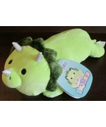 "NEW Squishmallows 13"" TRISTAN the Green Triceratops Laying Hug Mees Dino... - $19.79"