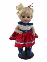"""Marie Osmond Dolls Of The World Miss USA 4th Of July Patriotic Cowboy Boots 8"""" - $20.40"""