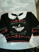 Vintage Sweater Loft Ugly Sweater Geese Ducks Womens Medium Blue (cb46) - $46.75