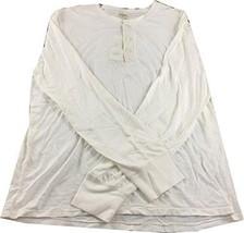 Denim & Supply Ralph Lauren Flag-Placket Henley, White, Small - $27.23