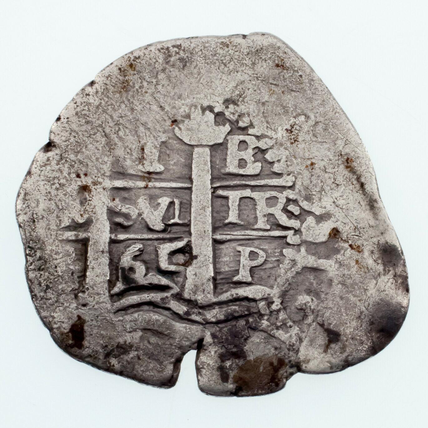 1765 Bolivia Silver 1 Real in Fine Condition KM #42 Carlos III