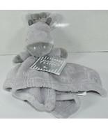 Baby Thro JAMES GIRAFFE Gray EMBOSSED FLANNEL NUNU THROW LOVEY Blanket N... - $34.64