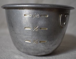 Aluminum Measuring Cup marked 1/4, 1/2, 3/4,  and 1 cup vintage kitchen - $11.87