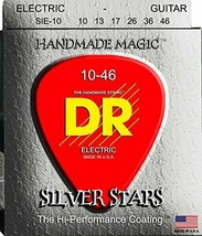 DR Strings Silver Stars - Extra-Life Silver Coated Electric 10-46 - $10.59