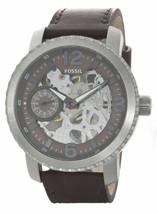 Fossil Men's Nate Mechanical Skeleton Dial Leather Band Watch BQ2273 MSR... - $172.98
