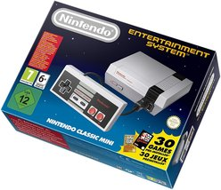 A Retro Blast From The Past Nintendo NES Console Classic Mini with 2 Con... - $187.50
