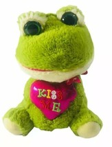 """Inter American Products Green Yellow Frog Kiss Me Pink Heart Plush 10"""" V... - $16.33"""