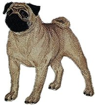 "Amazing Custom Dog Portraits[Pug ] Embroidered Iron On/Sew patch [6"" x 5... - €8,51 EUR"