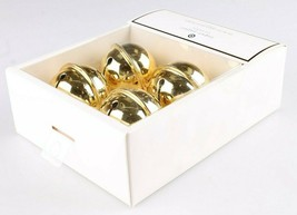 Set Of (4) Sugar Paper - Los Angeles - Gold Jingle Bell Placecard Holders NEW image 2