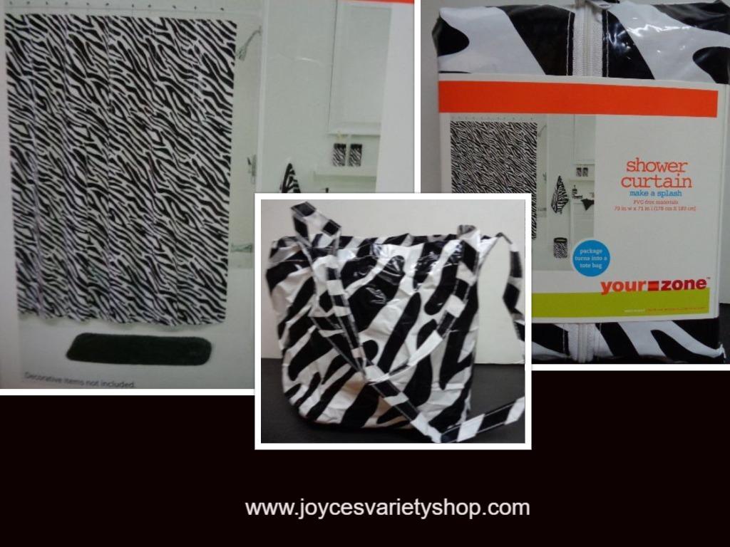 Zebra shower curtain web collage