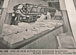 Vintage Stereoscope Card Sears & Roebuck #36 Automatic Covering Machines... - $4.89
