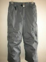 686 Youth Evolution Size Medium Gray Pattern Lined Snowboarding Ski Pants - $14.84
