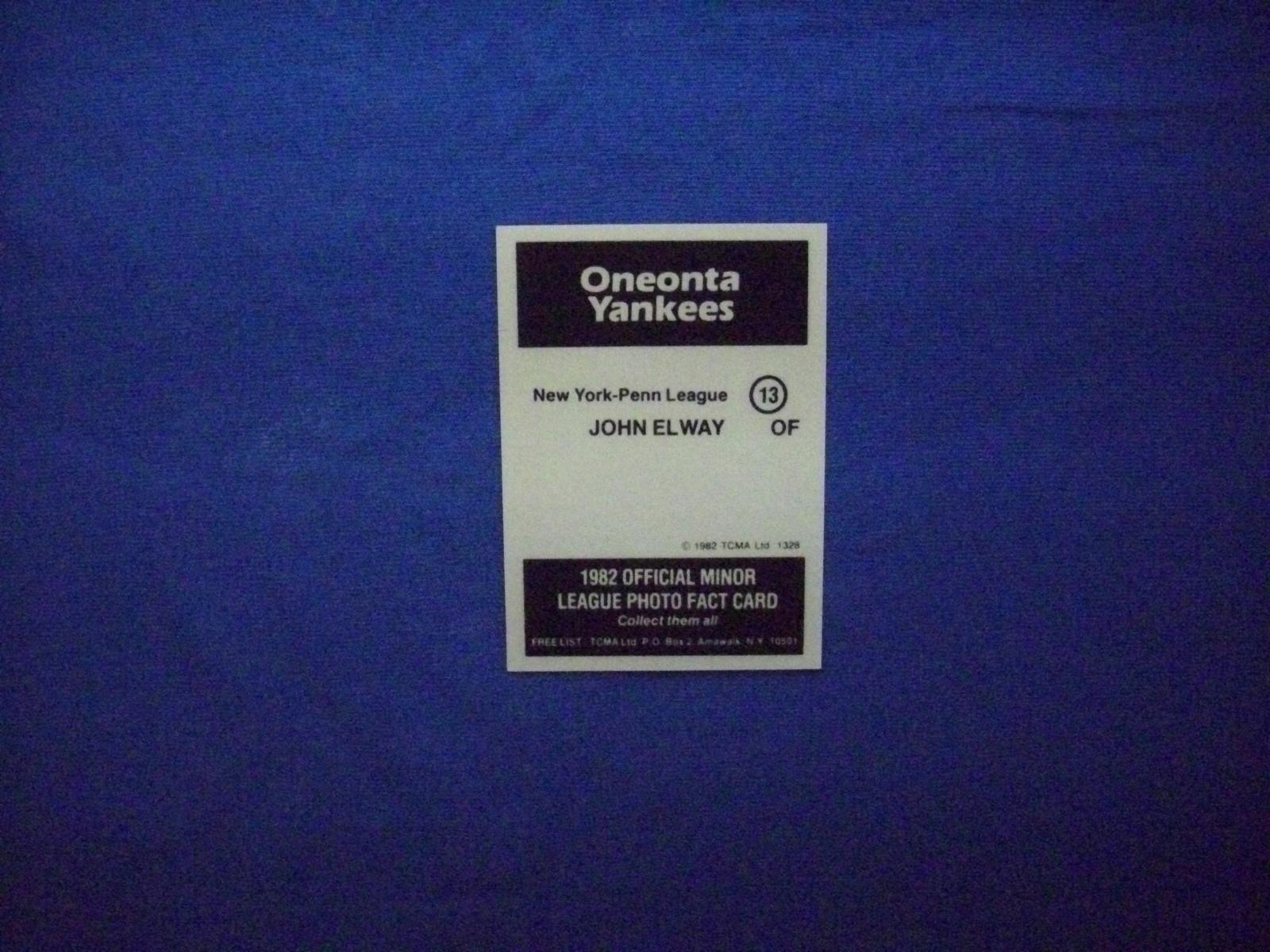 1982 TCMA Baseball #13 John Elway [Oneonta Yankees] Rookie Reprint