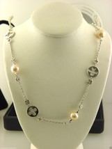 """18k White Gold Ladies Freshwater Cultured Pearl & Diamond Necklace 18"""" I... - $1,104.84"""