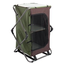Camping 2-Shelf Folding Cabinet Picnic Outdoor Collapsible Top Storage F... - $97.40