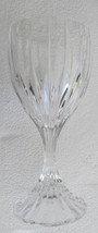 Vintage Mikasa Solid Crystal Clear Cut Ribbed Wine Glass Made In France - $29.99