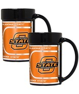 NCAA Oklahoma State Cowboys 2-Piece 15 Oz Coffee Mug Set w/ Metallic Gra... - $24.70