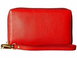 New Fossil Women Emma Zip Around Rfid Smartphone Wallet Variety Colors - $61.70