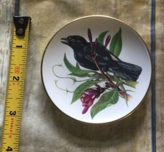 "Franklin Porcelain Songbirds World 3 1/4"" Miniature Collector Plate Rump... - $10.88"