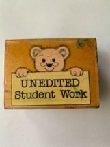 Rubber Stamp Unedited Student Work Hero Arts 1990 Teacher Crafting Stamping Art - $9.49
