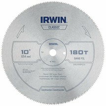 IRWIN Tools Classic Series Steel Table / Miter Circular Saw Blade 10-Inch 180T - $13.85