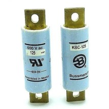 LOT OF 2 NEW BUSSMANN KBC-125 FUSES SEMICONDUCTOR HIGH SPEED 125AMP 600VOLT 200K