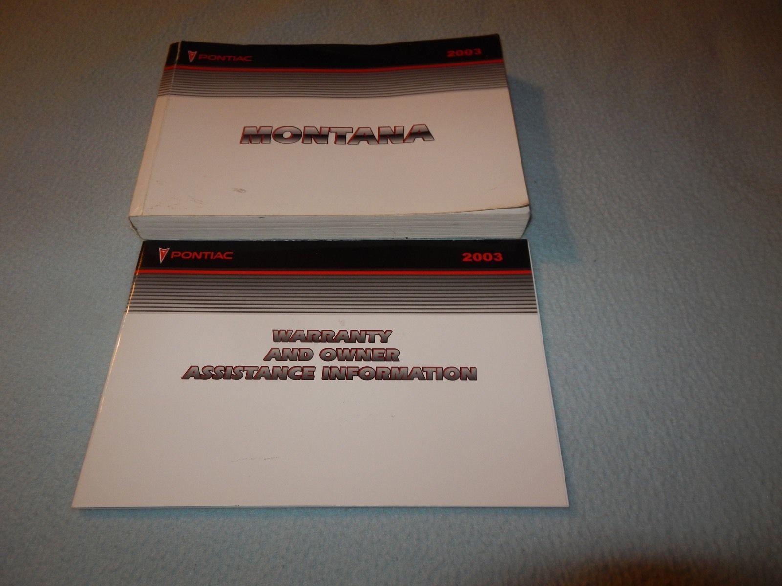 2003 pontiac montana owners manual with and similar items rh bonanza com 2004 pontiac montana repair manual 2004 Pontiac Montana Interior