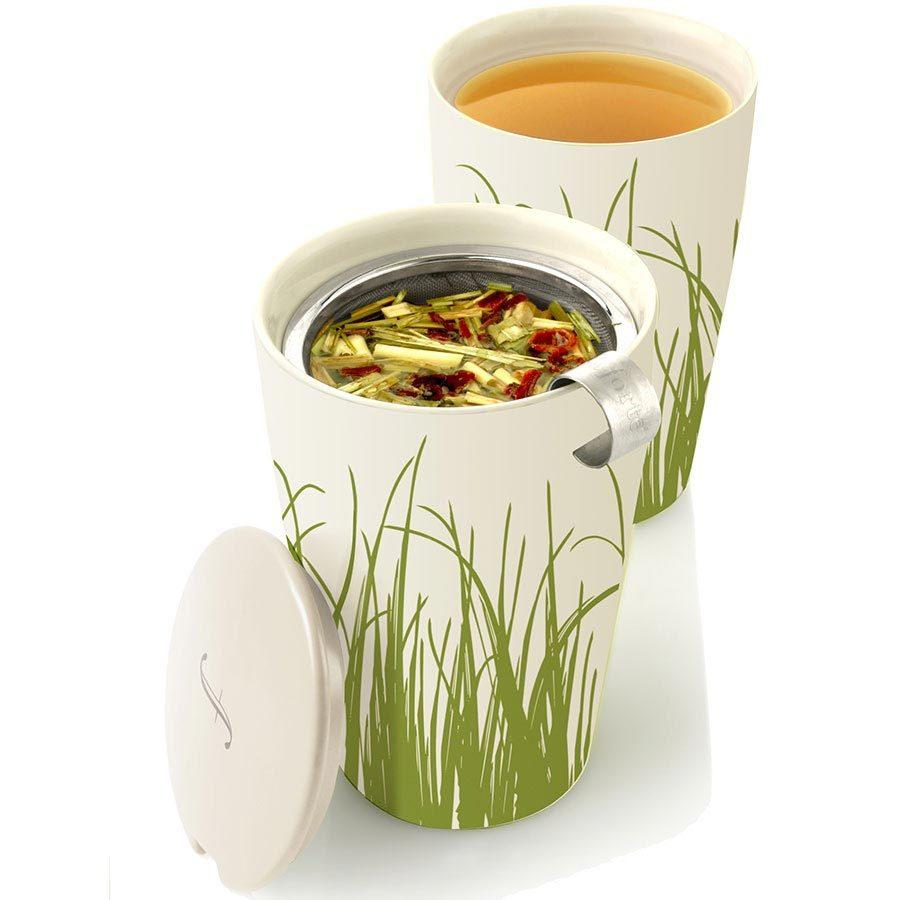Tea Forte Kati Loose Tea Cup - Spring Grass White - 4 x 12 oz Kati Cups - $93.11