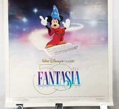 "Fantasia 50th Anniversary Double Sided Movie Poster 41""x27"" Original Rolled Ship image 3"