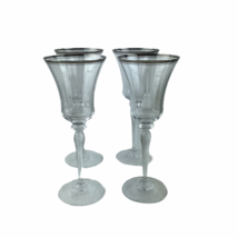 Wedgwood Martha Stewart Trellis Crystal Goblet Set 4 Glasses 9 oz Made G... - $55.71