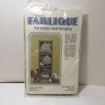 """The Hens Pot Holder Wall Hanging Kit Carousel Fablique 7.5"""" x 23""""  - $12.59"""