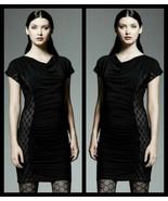 Catherine Malandrino For DesigNation Black Lace Side Panel Dress - Size ... - $44.95