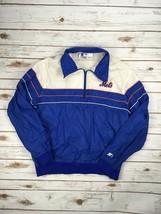 Starter New York Mets Jacket 1/4 Zip Pullover Mlb Baseball Windbreaker L Coat - $37.37