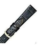 Hadley Roma 17mm Mens Black Genuine Alligator Watch Strap SHIPSFREE - $107.26