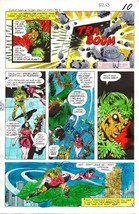 Original 1978 JLA color guide art page:Star Sapphire/Plant Master/Funky ... - $99.50