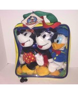 Lot of 3 Disney Bean Bags Mickey Mouse/Minnie Mouse/Donald Duck/Plastic ... - $6.92