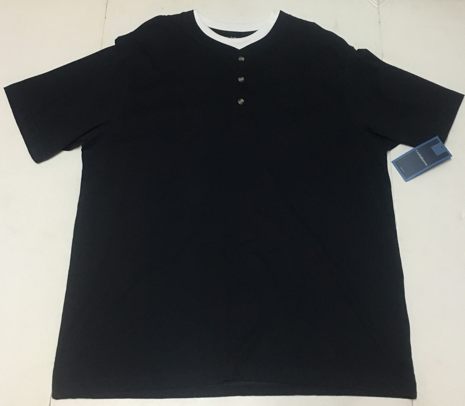 Croft & Barrow Navy Blue Polo Shirt Men's Sz XL