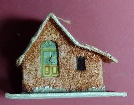 Vintage CHRISTMAS VILLAGE HOUSE Ornament Brown PUTZ Japan Paper Mache 19... - $19.95