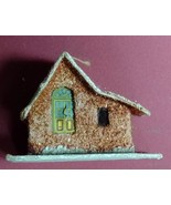 Vintage CHRISTMAS VILLAGE HOUSE Ornament Brown PUTZ Japan Paper Mache 19... - $19.95