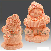 3D silicone Soap/polymer/clay/cold porcelain/candle mold – Musical Snowman - $64.35
