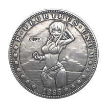 Hobo Nickel 1885 - CC USA Morgan Dollar Sexy Girl Bikini COIN For Gift - $5.99