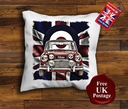 Mini Cooper Cushion Cover, Mini, Union Jack Cushion, Mod Target, Choose your ... - $9.01+