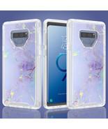 Samsung Galaxy Note 9 / N960 Marble Transparent Defender Armor Hybrid Ca... - $14.99