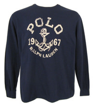 NEW! Polo Ralph Lauren Nautical Anchor Long Sleeve T Shirt!  Navy or Off White - $39.99