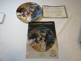Gone With The Wind Scarlett & Rhetts Honeymoon COA Collector Plate Golde... - $21.37