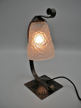 MORIN BOST LYON - French Art Deco lamp by Morin & Bost Lyon with signed ... - $360.00