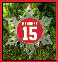 Mahomes Jersey Christmas Ornament - Football Kansas City - $12.95